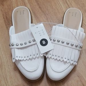 Beautiful white slip ons from a. new. day Size 8